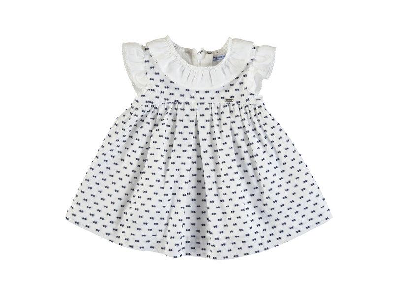 Mayoral White Swiss Dot Dress