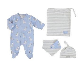 Blue Bay Bib Hat Bag Pijama Set