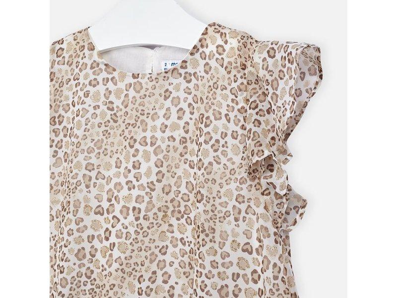 Mayoral Animal Print Ruffled Dress