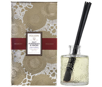 Gilt Pomander & Hinoki Holiday Diffuser
