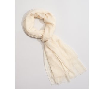 Solid Crinkle White Sand Scarf
