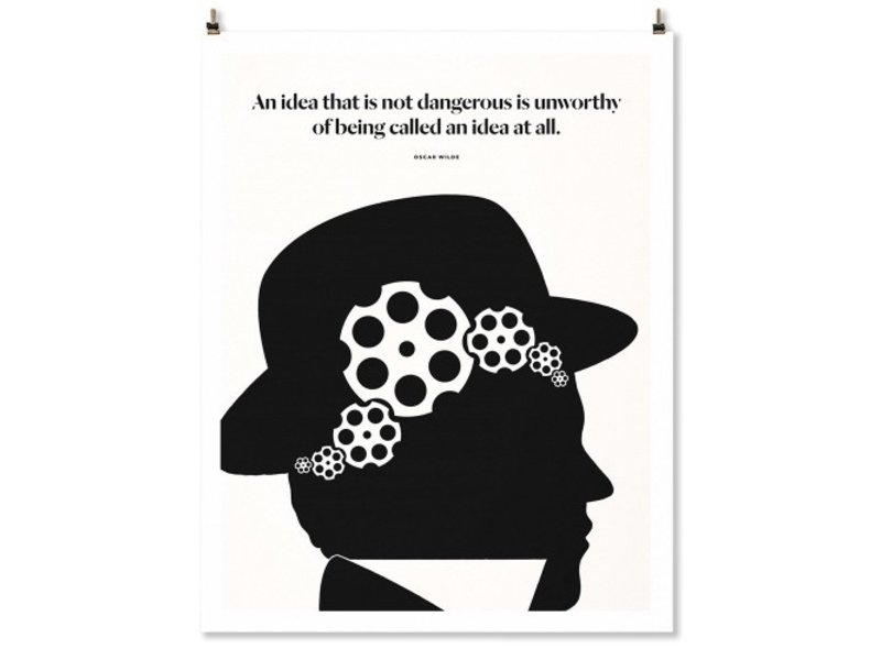 Abrams Oscar Wilde Quote Print