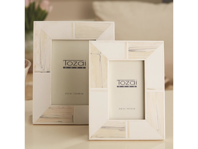 Two's Company Blanc D'voir Photo Frame