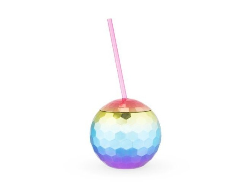 True Brands Rainbow Disco Ball Tumbler