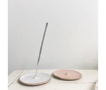 White Round Incense Holder