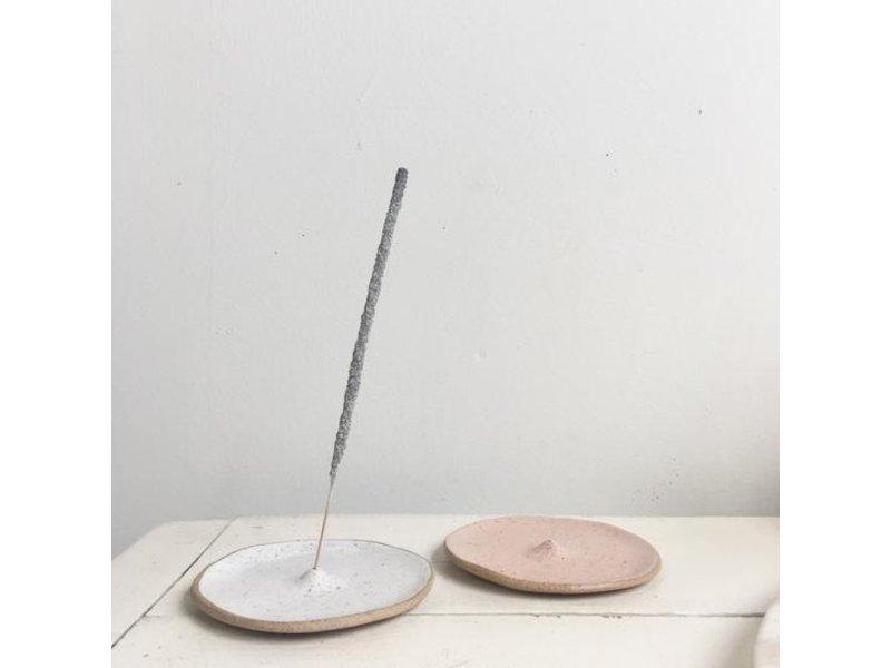 Catherine Rising White Round Incense Holder