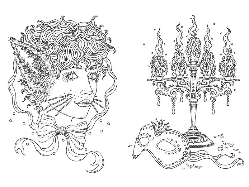 Gibbs Smith, Publisher Tales From The Midnight Masquerade Coloring Book