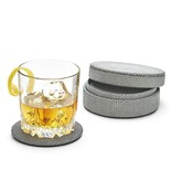 Two's Company Vegan Leather Shagreen Coasters
