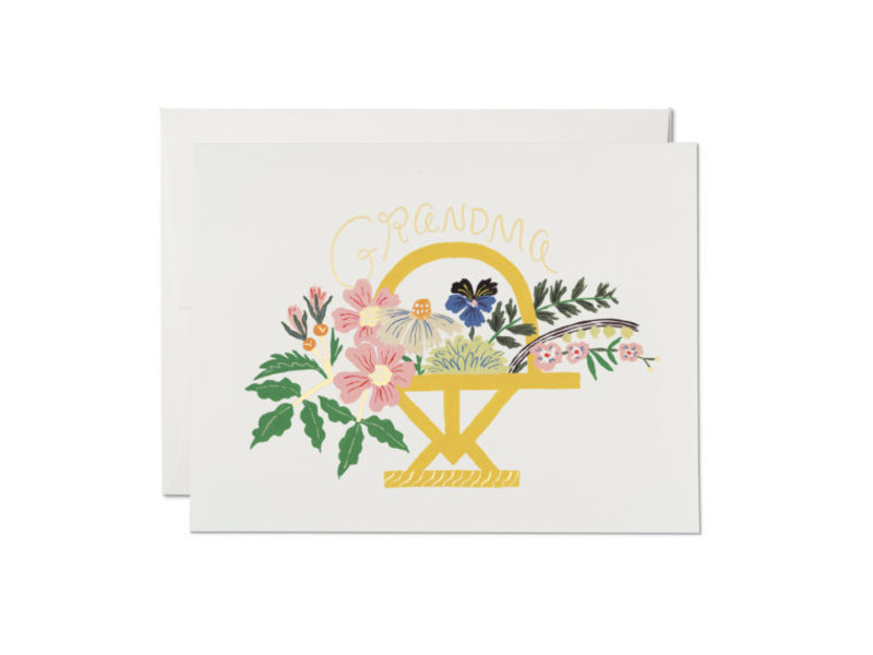 Red Cap Cards Grandma Bouquet