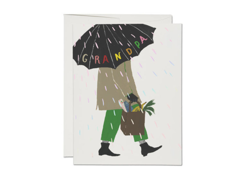 Red Cap Cards Grandpa's Umbrella
