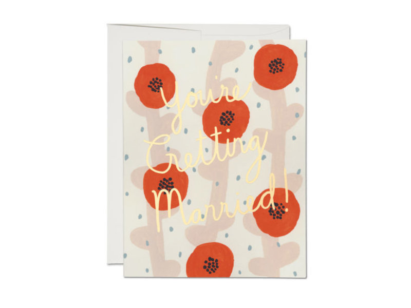 Red Cap Cards Wedding Poppies