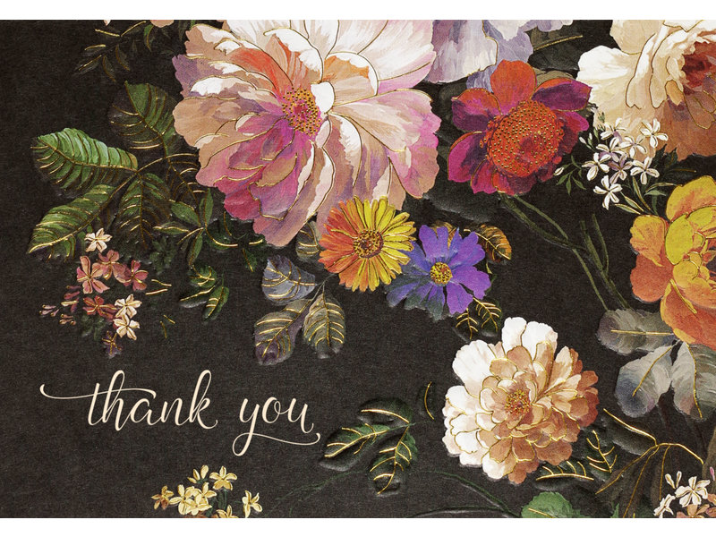 Peter Pauper Press Midnight Floral Boxed Thank You Cards