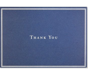 Navy Blue Boxed Thank You Cards