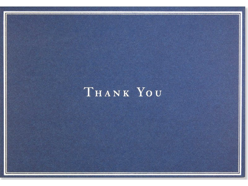 Peter Pauper Press Navy Blue Boxed Thank You Cards
