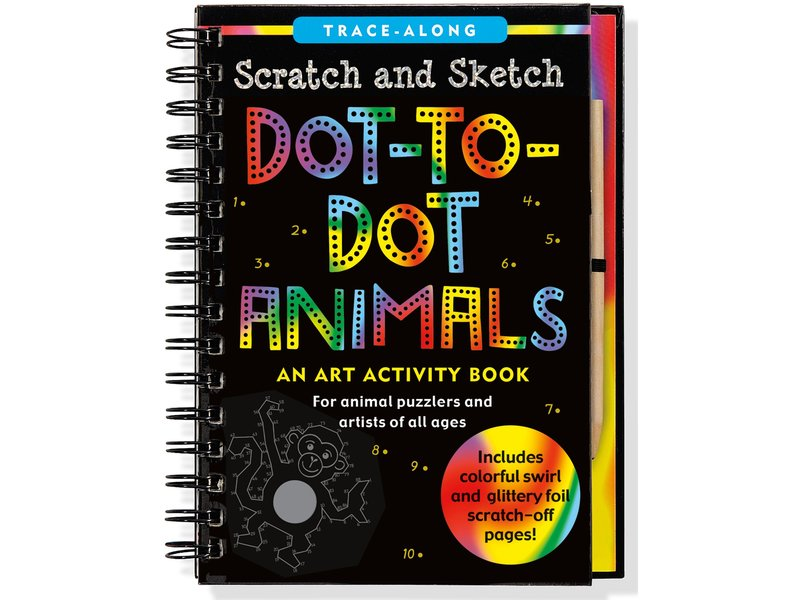 Peter Pauper Press Scratch & Sketch Dot-To-Dot Animals
