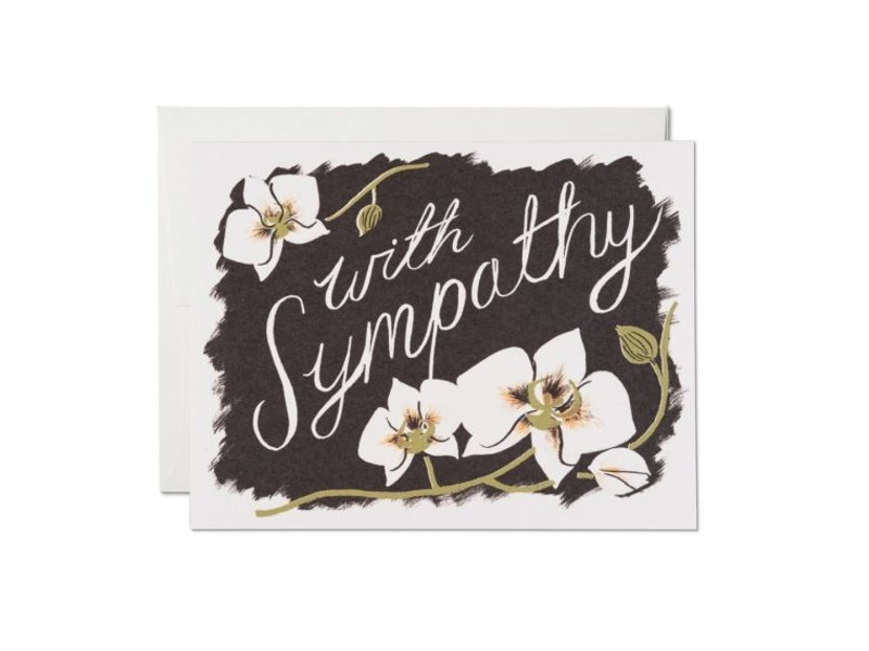 Red Cap Cards Sympathy Orchids