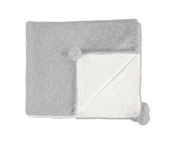 Gray Fuzzy Blanket