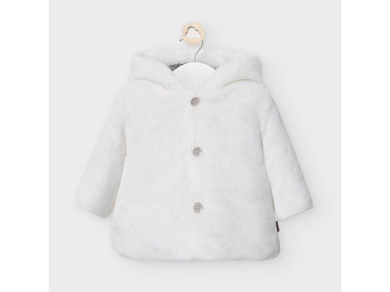 Mayoral White Cuddly Jacket