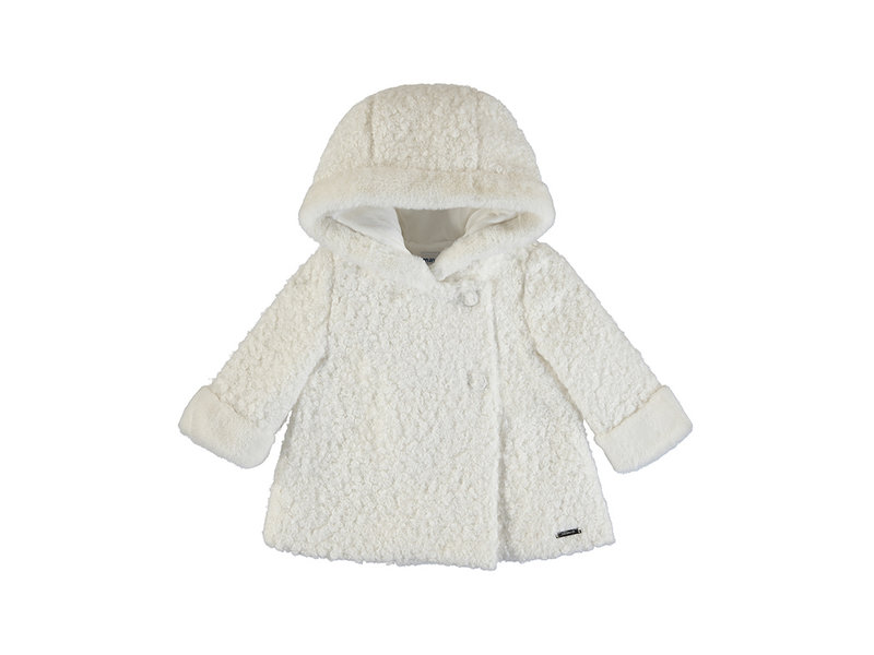 Mayoral White Teddy Coat
