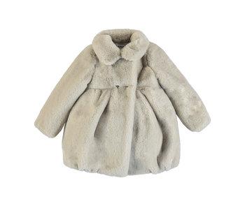 Taupe Faux Fur Coat