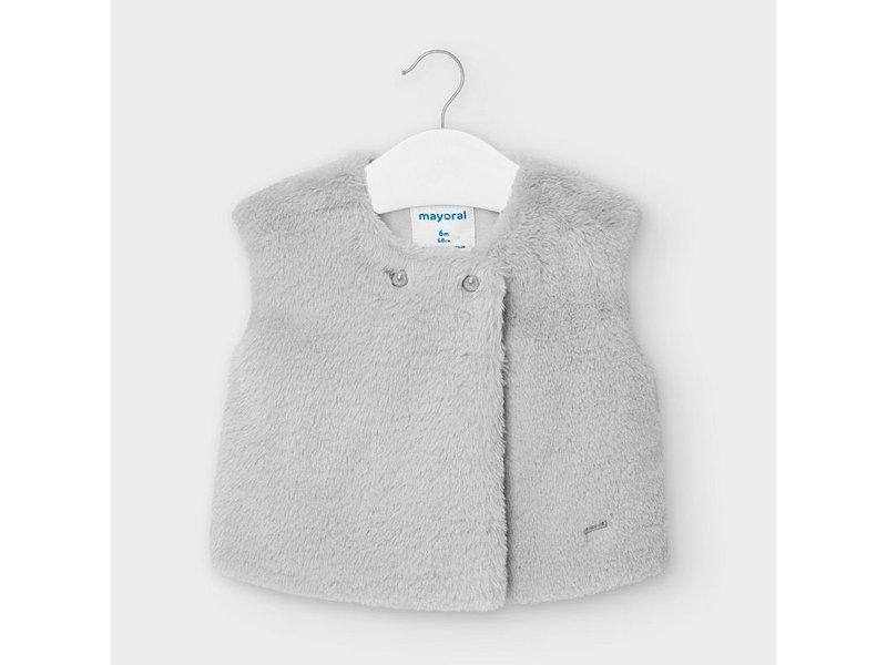 Mayoral Grey Fur Vest