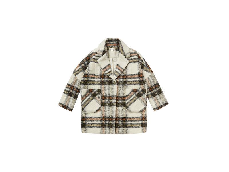 Rylee + Cru Fall Plaid Longline Coat