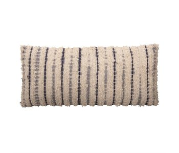 Woven Cotton Textured Lumbar Pillow