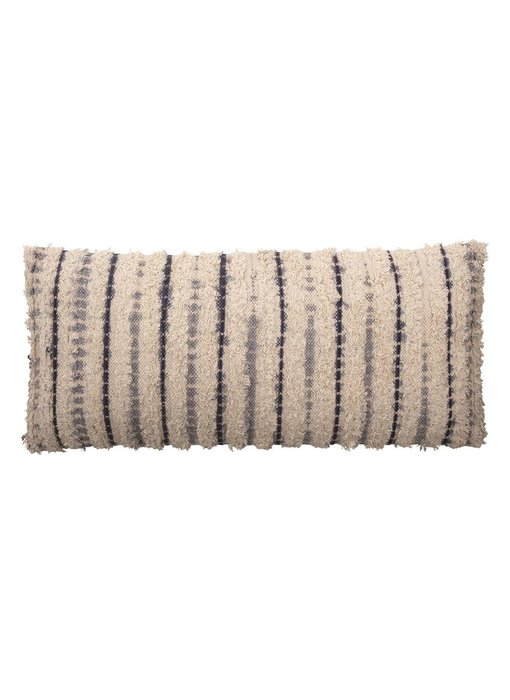 Woven Cotton Textured Lumbar Pillow