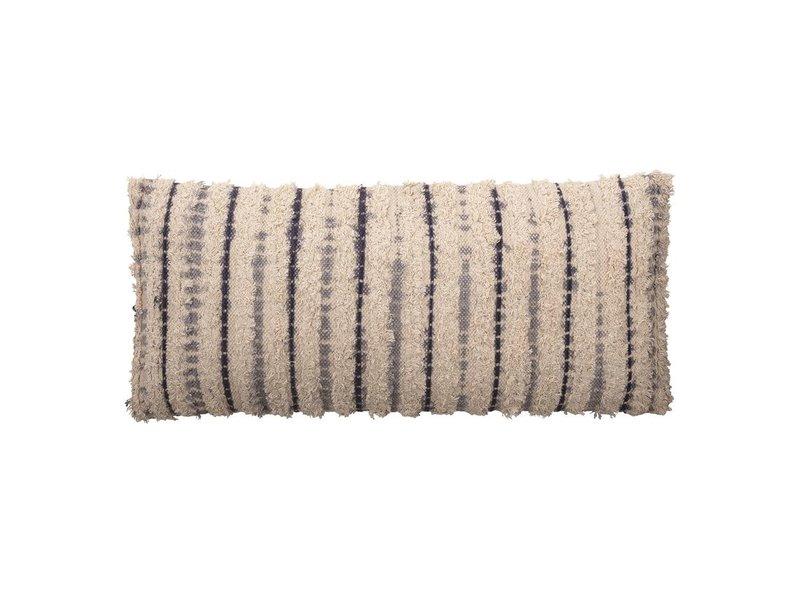 Bloomingville Woven Cotton Textured Lumbar Pillow