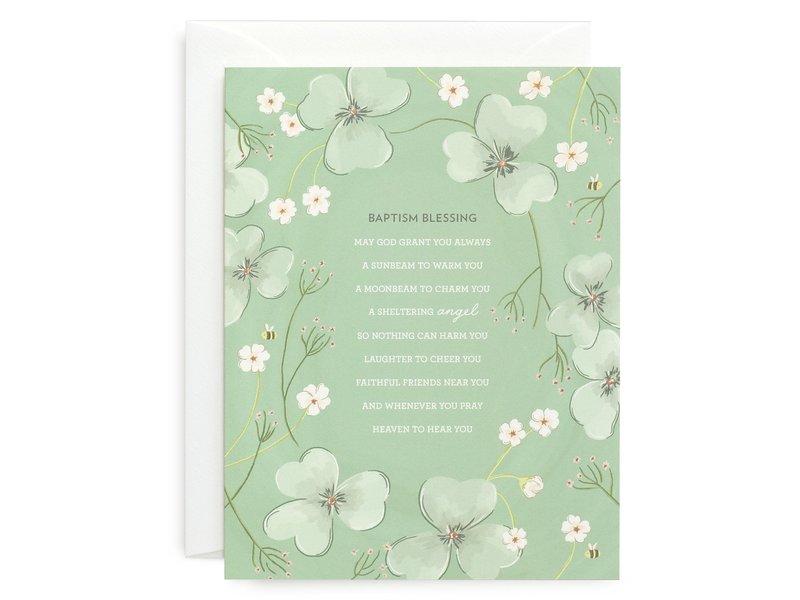Sagebrushed Baptism Blessing Card