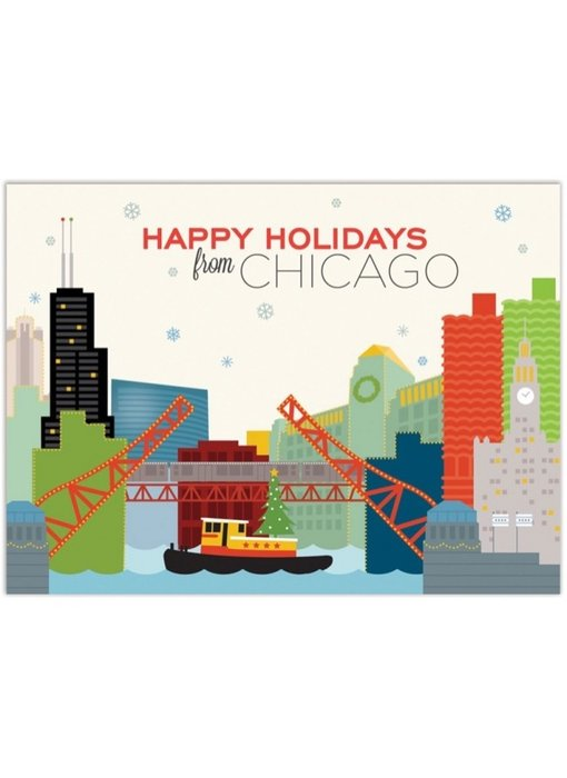 Chicago River Holiday Tug Boat
