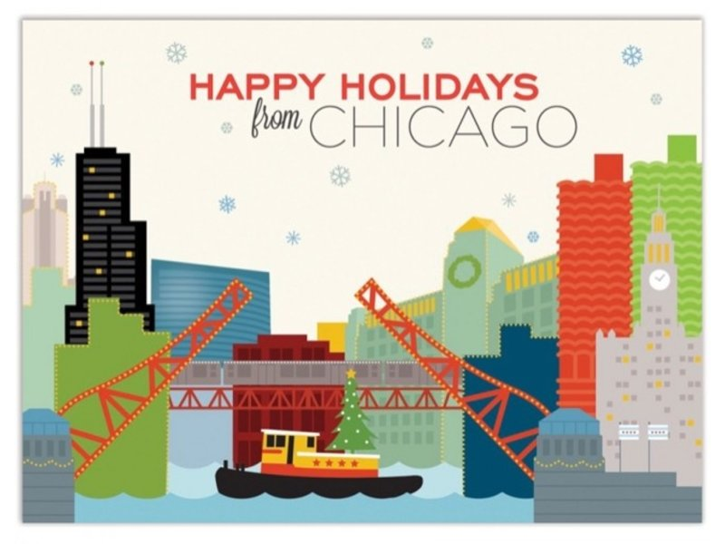 The Found Chicago River Holiday Tug Boat