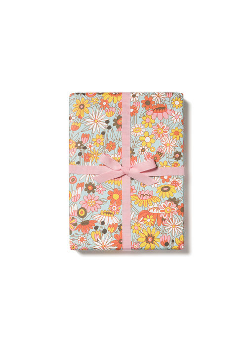 Groovy Blooms Gift Wrap