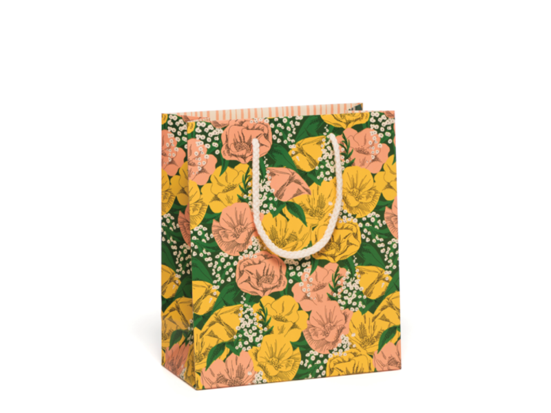 Red Cap Cards Baby's Breath Gift Bag