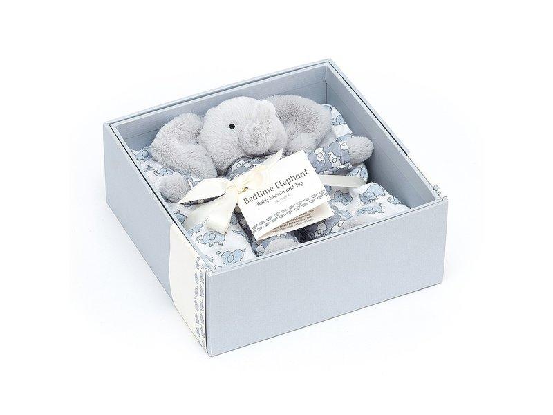 JellyCat Inc Bedtime Elephant Muslin Set