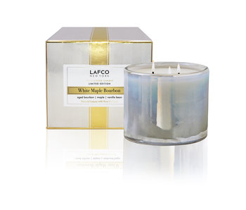 White Maple Bourbon 3 Wick Candle