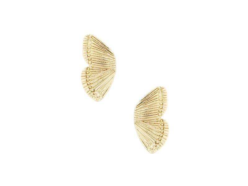 five and two Dani Gold Earrings