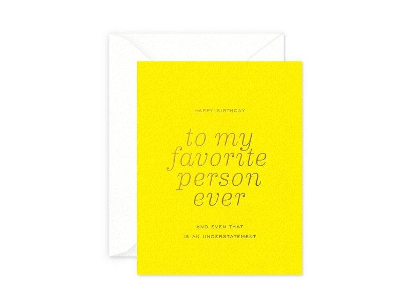 Smitten on Paper Favorite Person Birthday