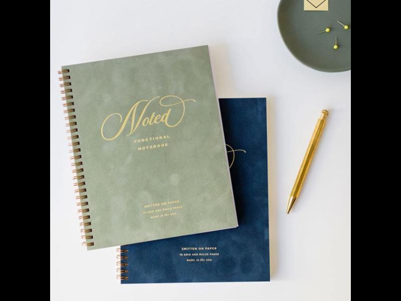 Smitten on Paper Velvet Notebook Sage