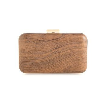 Wood Willa Minaudiere Clutch