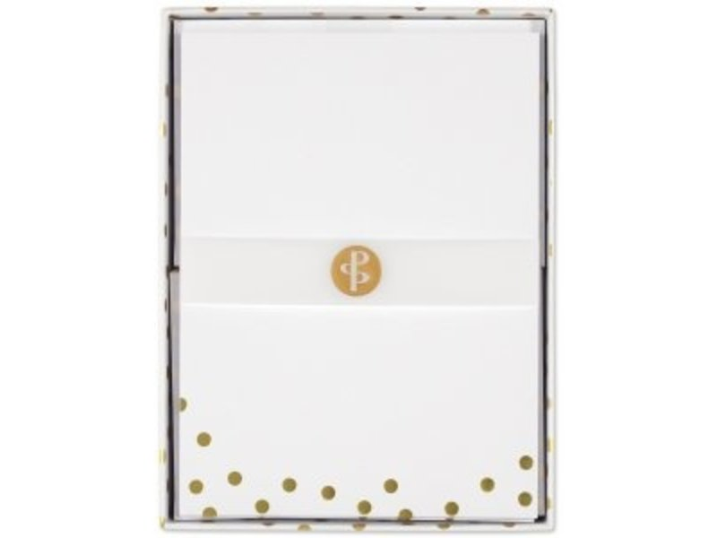 Peter Pauper Press Gold Dots Flat Note Stationery