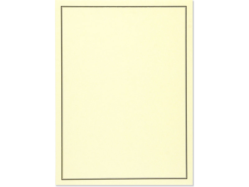 Peter Pauper Press Black & Cream Flat Note Stationery