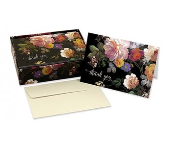 Midnight Floral Boxed Thank You Cards