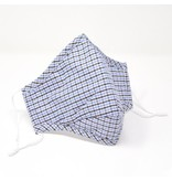 Seriously Shea Black & Blue Gingham Cotton Face Mask