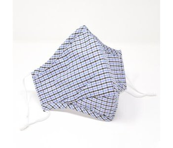 Black & Blue Gingham Cotton Face Mask