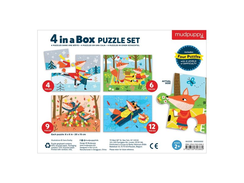 Chronicle Books Four Seasons 4-In-A-Box Puzzle