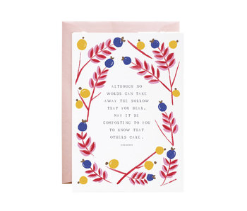 I Am With You Sympathy Card