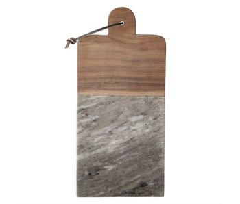 Marble & Acacia Cutting Board