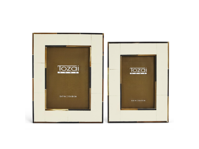 Two's Company Milano Photo Frame with Horn Inlay
