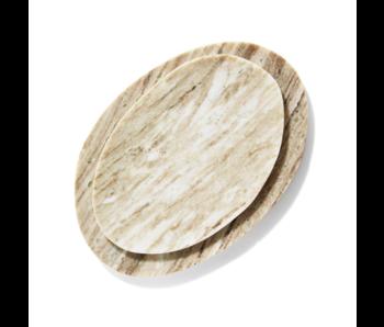 Organic Beige Marble Plate